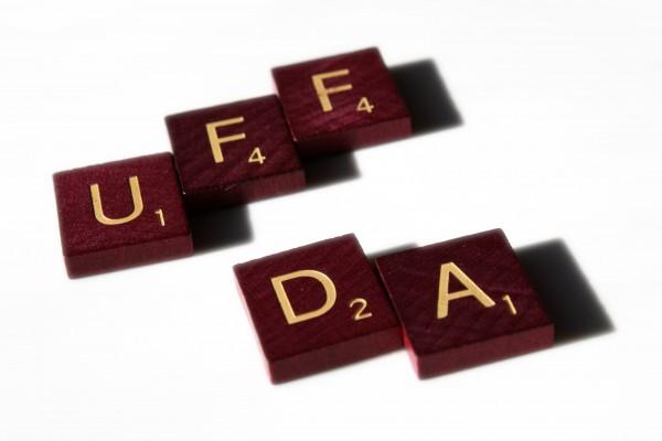 Uff Da - Free high resolution photo of scrabble letter tiles spelling the words Uff Da