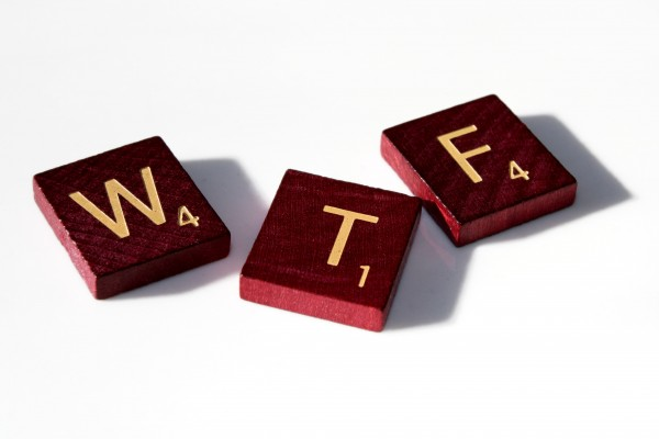 WTF - Free high resolution photo of Scrabble tiles spelling WTF