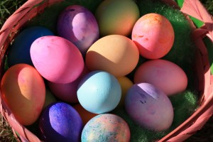 Basket Full of Easter Eggs - Free High Resolution Photo
