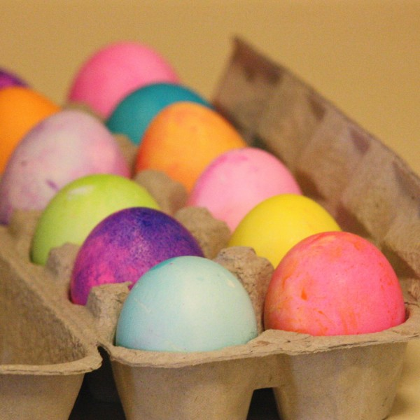 Carton Full of Easter Eggs - Free High Resolution Photo