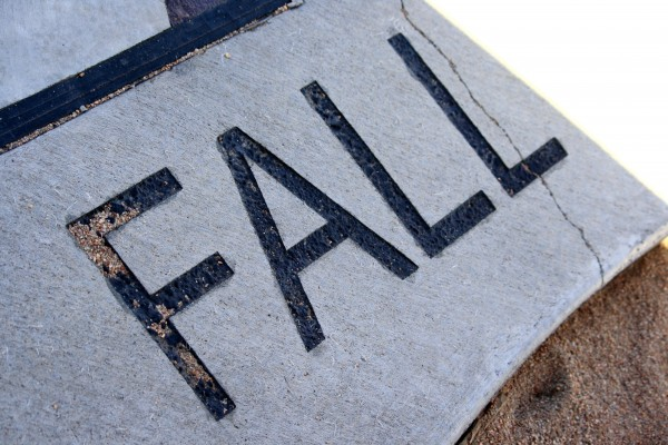 Fall - free high resolution photo of the word fall - part of a sidewalk solar calendar