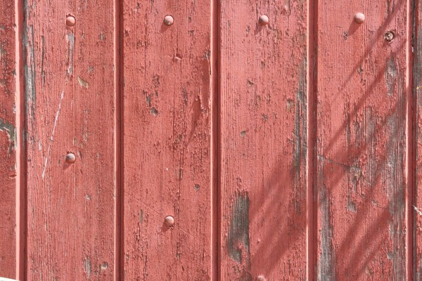 Old Wood Fence with Peeling Red Paint Texture - Free High Resolution Photo