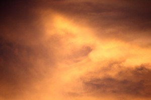 Orange Clouds at Sunset - Free High Resolution Photo