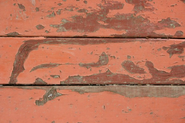 Peeling Red Paint on Old Wood Boards Texture Picture ...