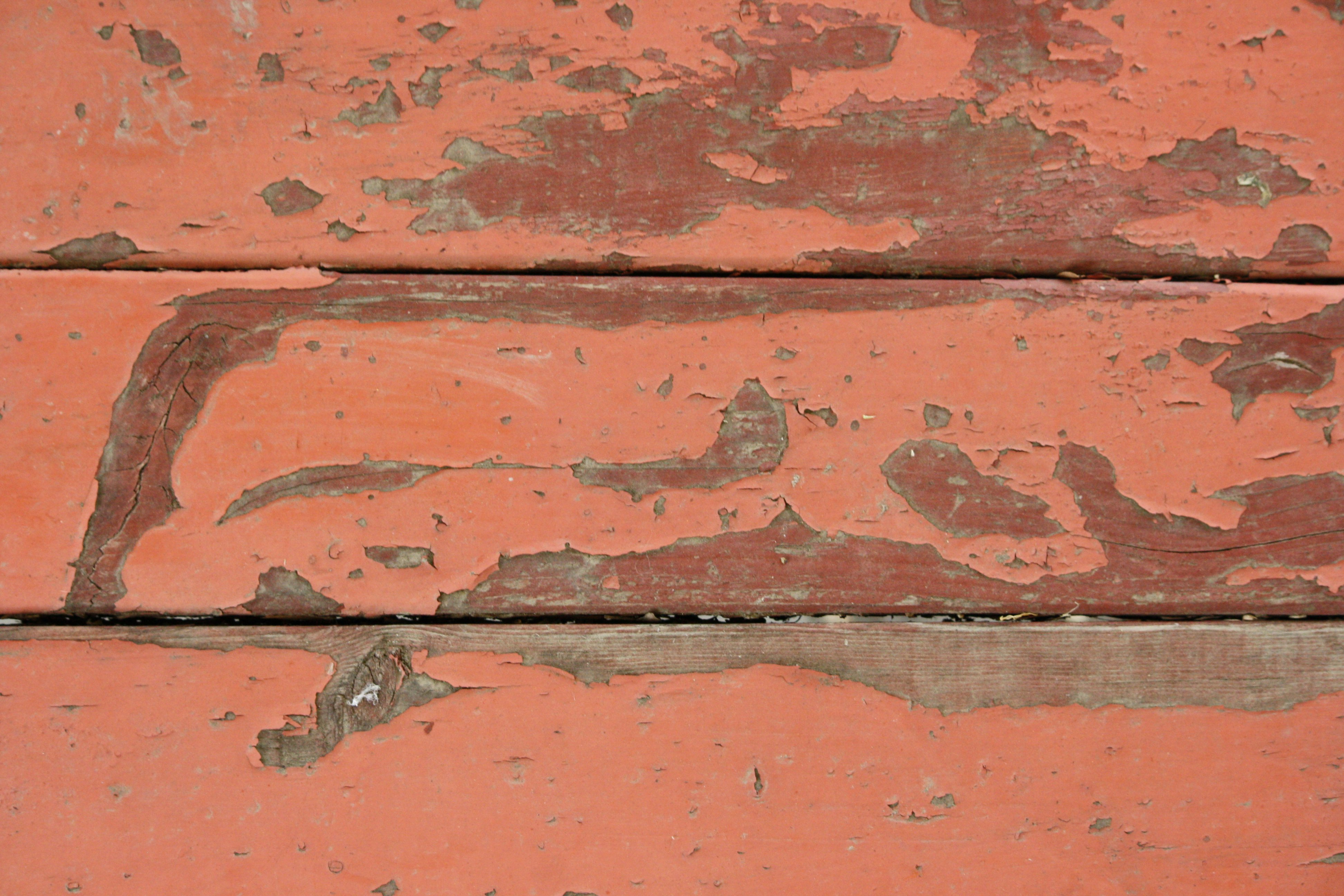 Peeling Red Paint On Old Wood Boards Texture Picture
