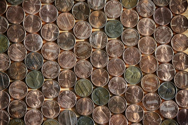 Pennies Texture - Free High Resolution Photo