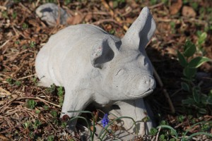 Pig Garden Figurine made of Cement - Free High Resolution Photo