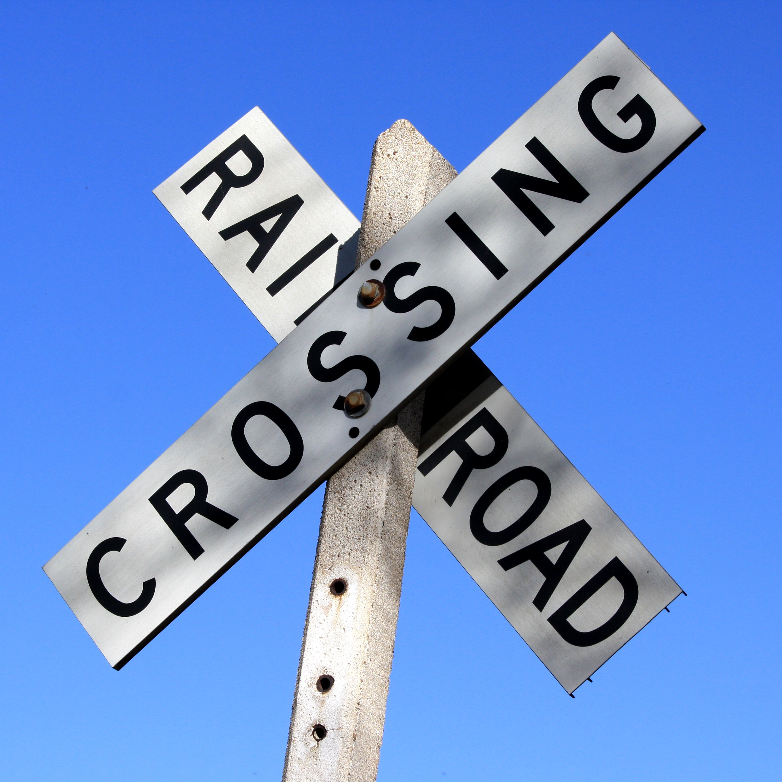 Railroad Crossing Sign Picture Free Photograph Photos