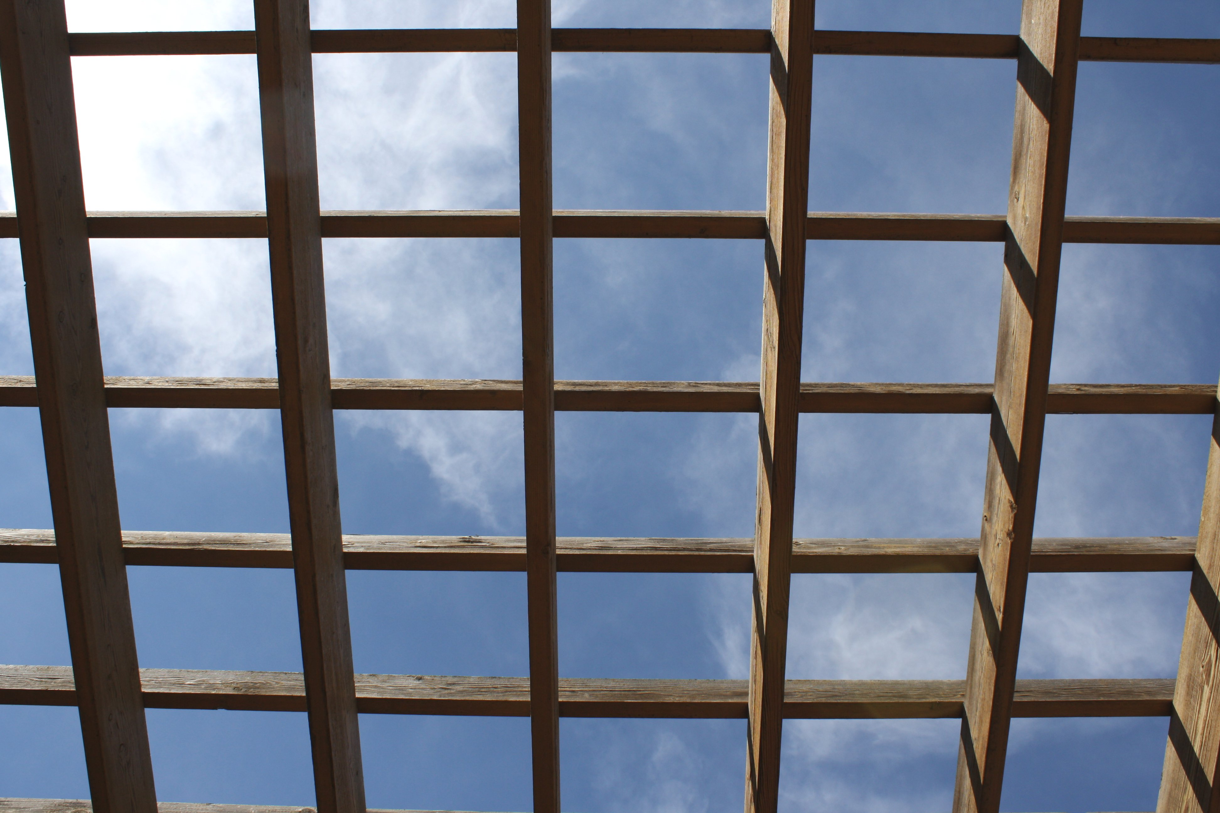 Sky Through Terrace Roof Picture Free Photograph