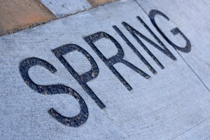 Spring - Free high resolution photo of the word spring - part of a sidewalk solar calendar