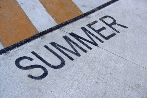 Summer - Free high resolution photo of the word summer - part of a sidewalk solar calendar
