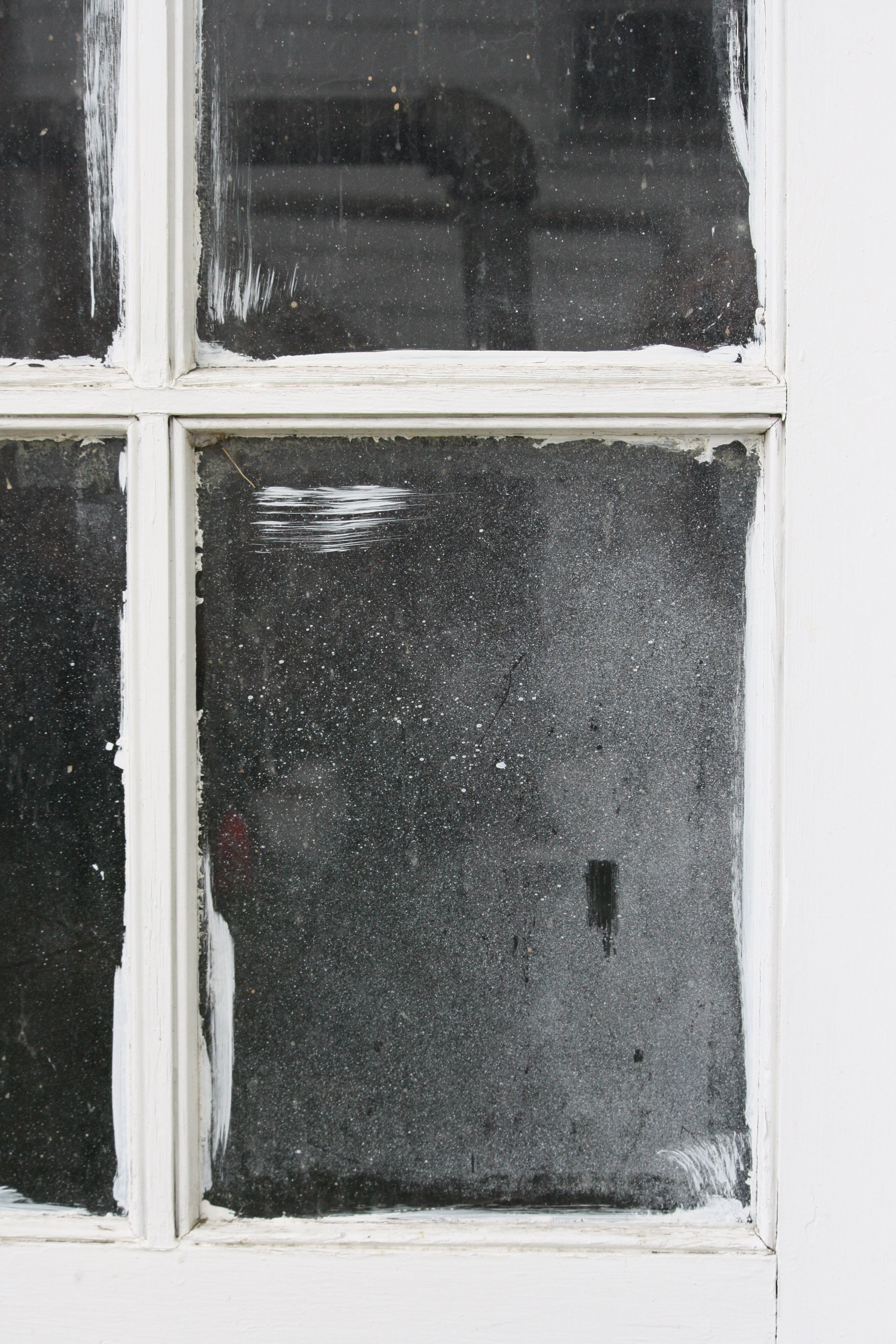 White Paint On Old Window
