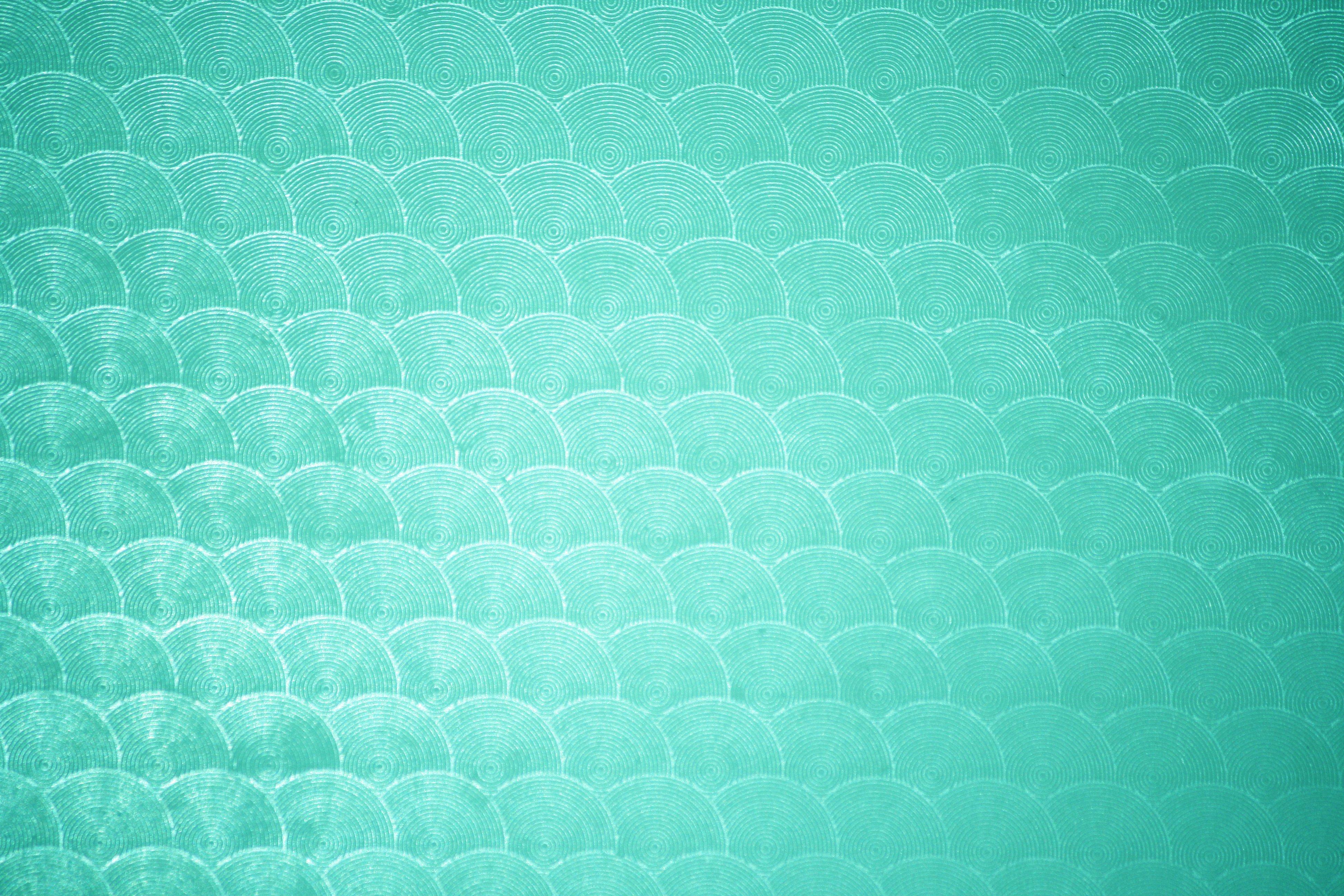 Aqua Green Circle Patterned Plastic Texture