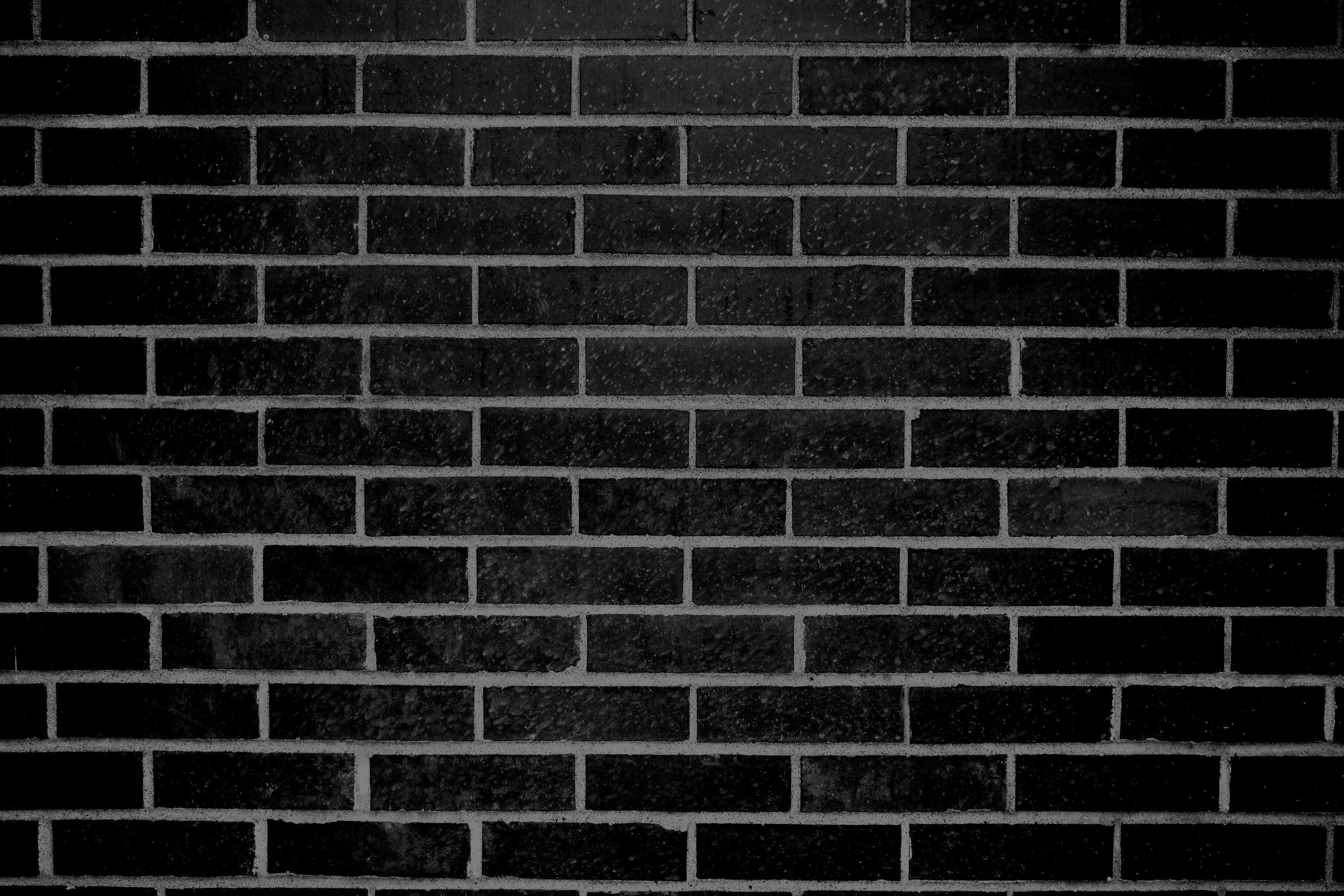 Black Brick Wall Texture Picture | Free Photograph ...