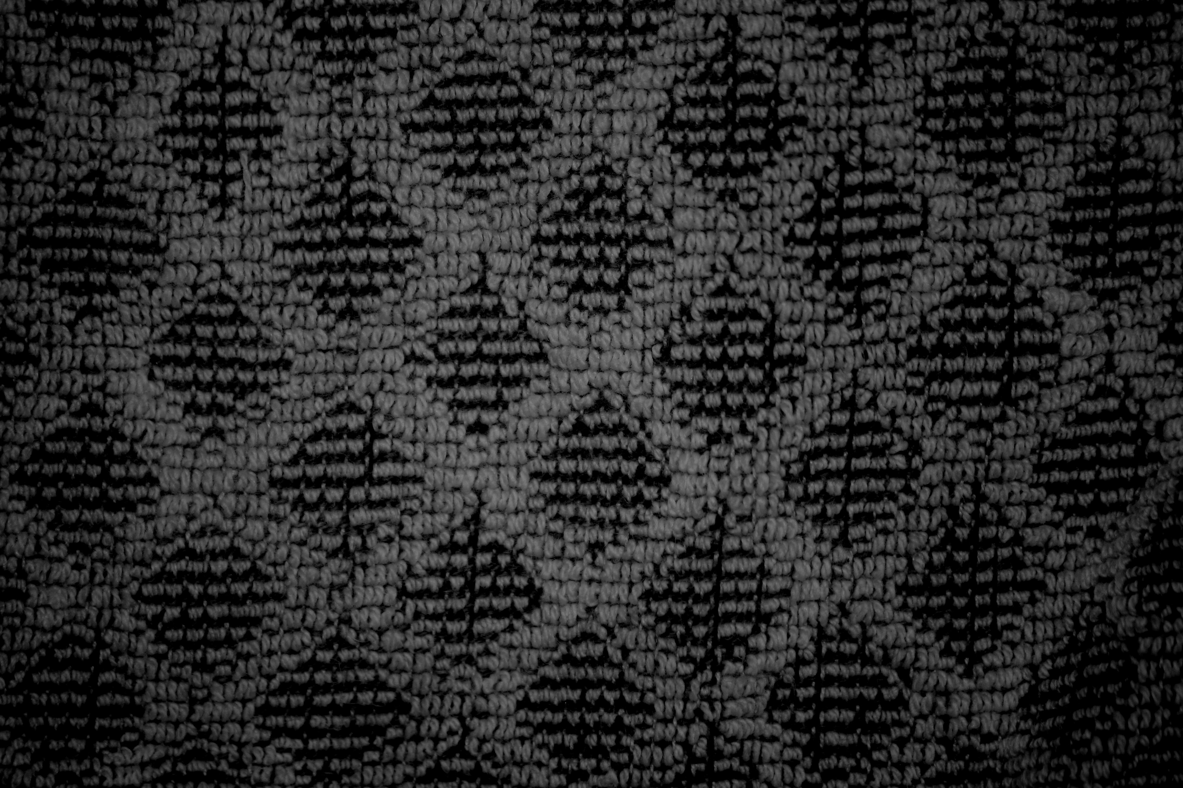 Black Dish Towel With Diamond Pattern Close Up Texture