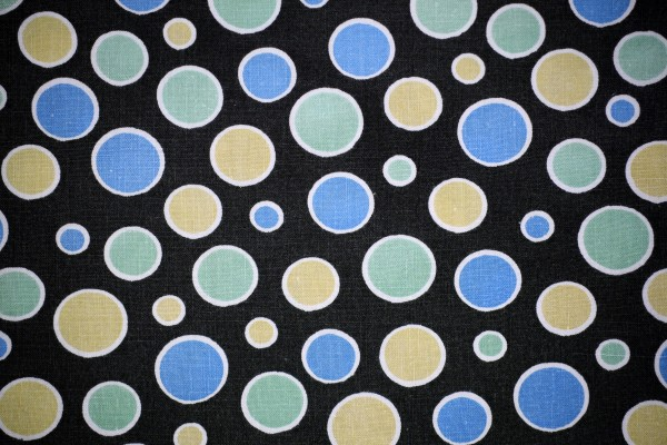 Black Fabric with Blue, Green and Yellow Dots Texture - Free High Resolution Photo