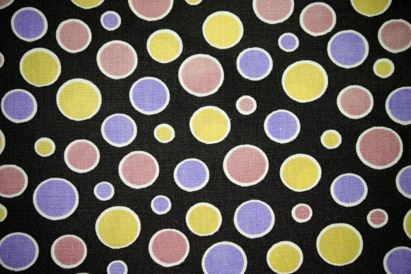 Black Fabric with Pink, Purple and Yellow Dots Texture - Free High Resolution Photo