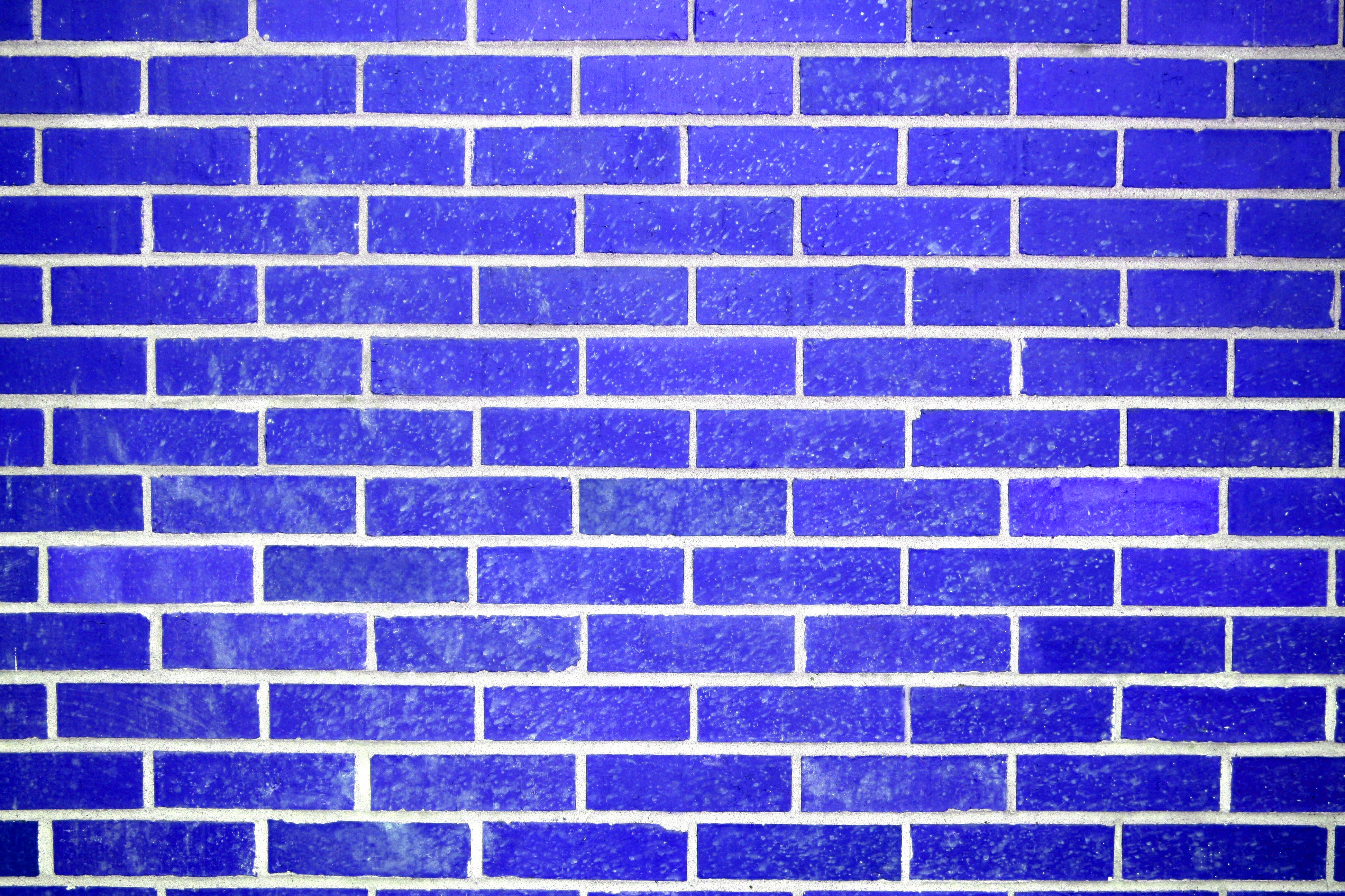 Blue Brick Wall Texture