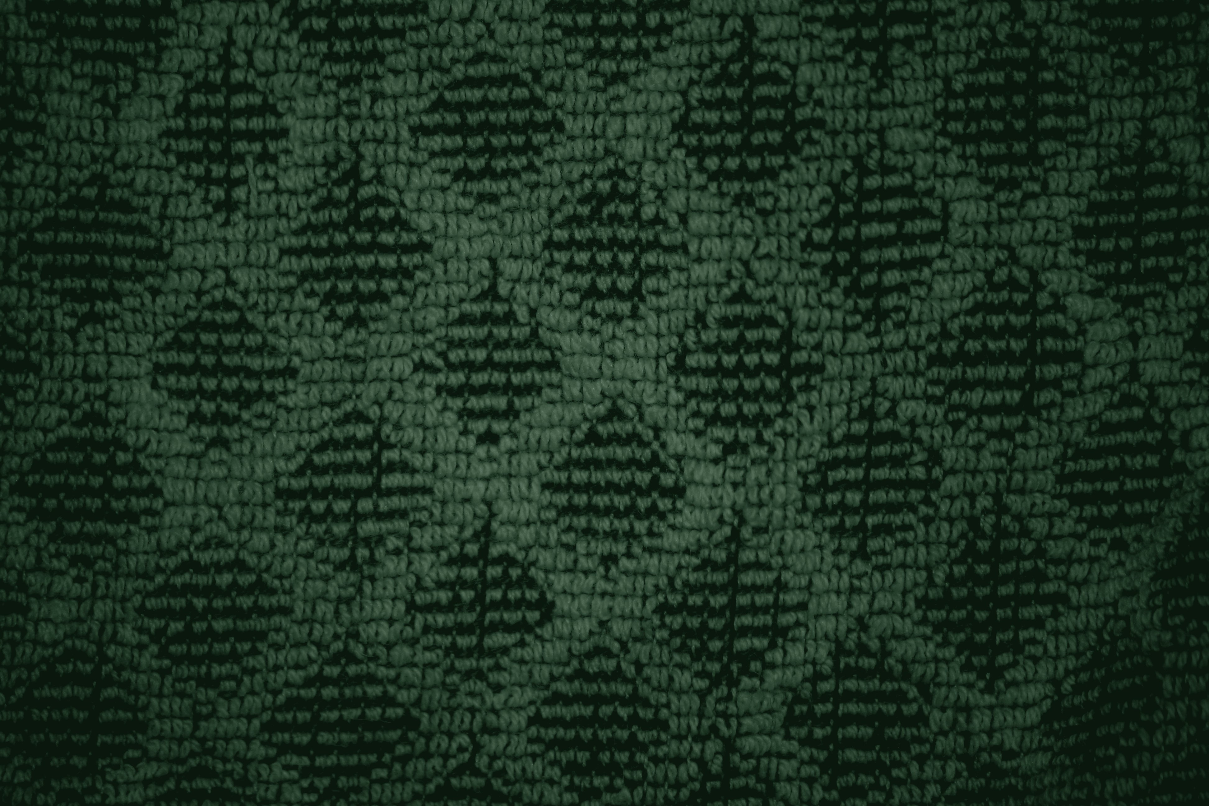 Forest Green Dish Towel With Diamond Pattern Close Up Texture