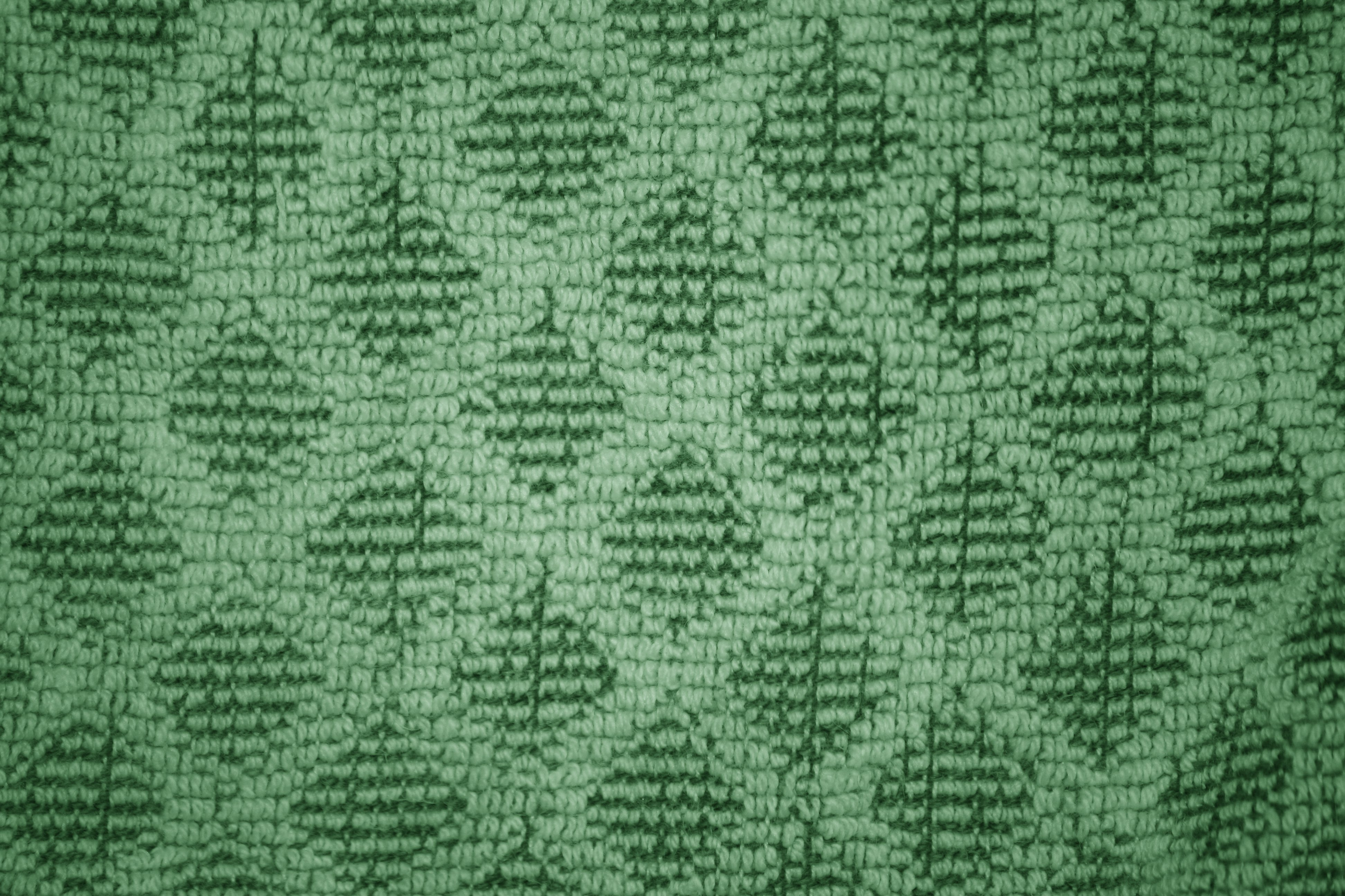 Green Dish Towel With Diamond Pattern Close Up Texture