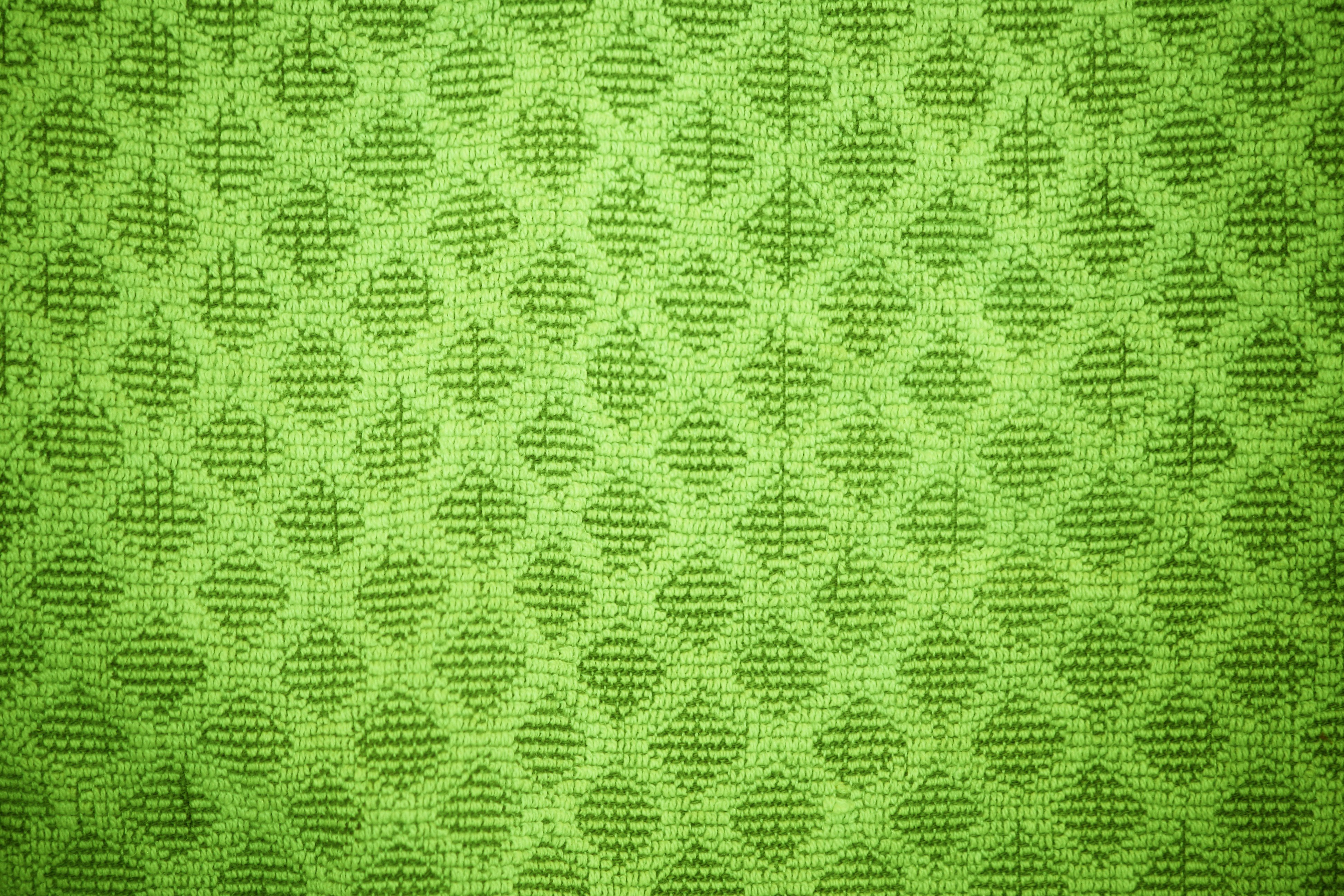 Lime Green Dish Towel With Diamond Pattern Texture Picture