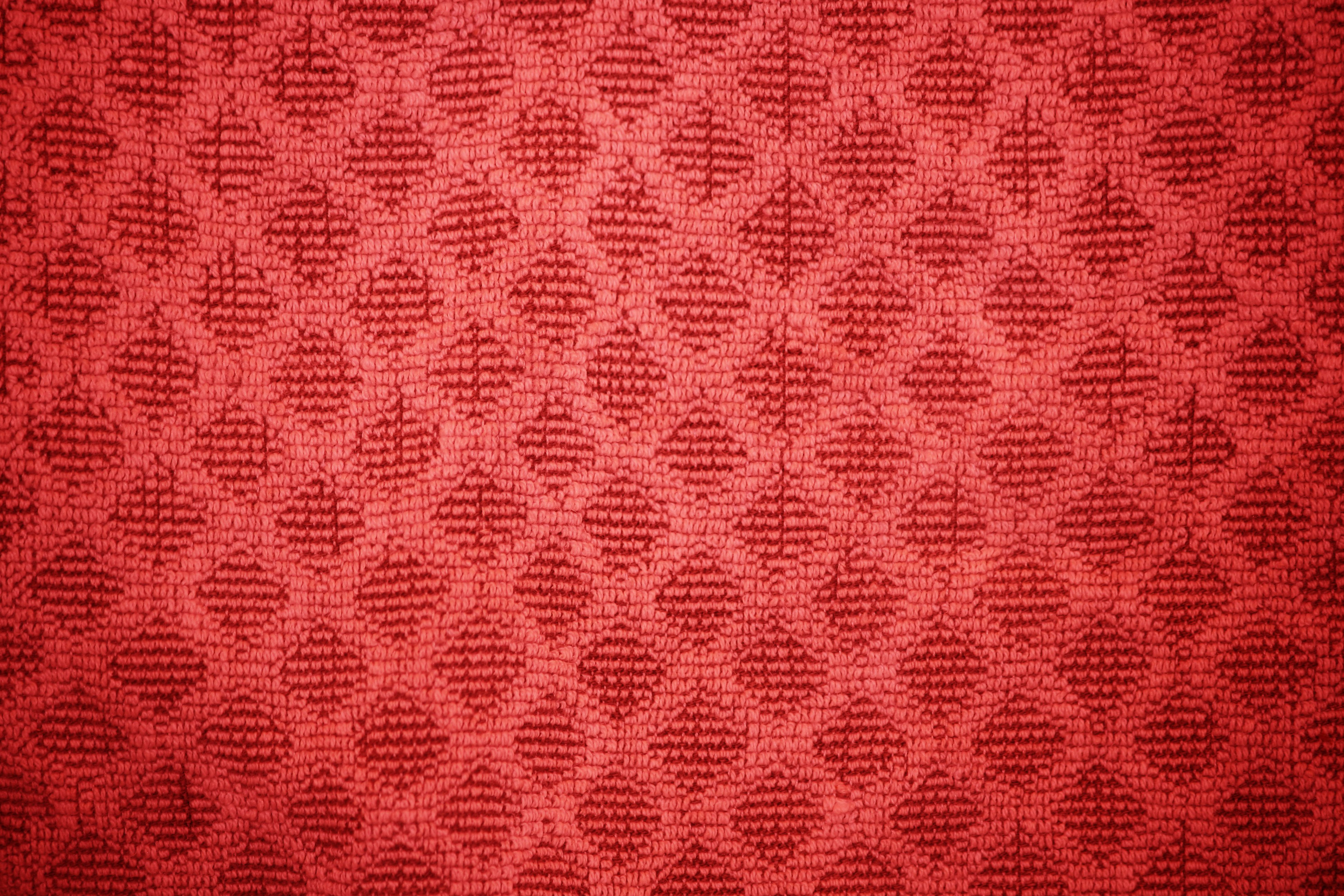 Red Dish Towel With Diamond Pattern Texture Picture Free
