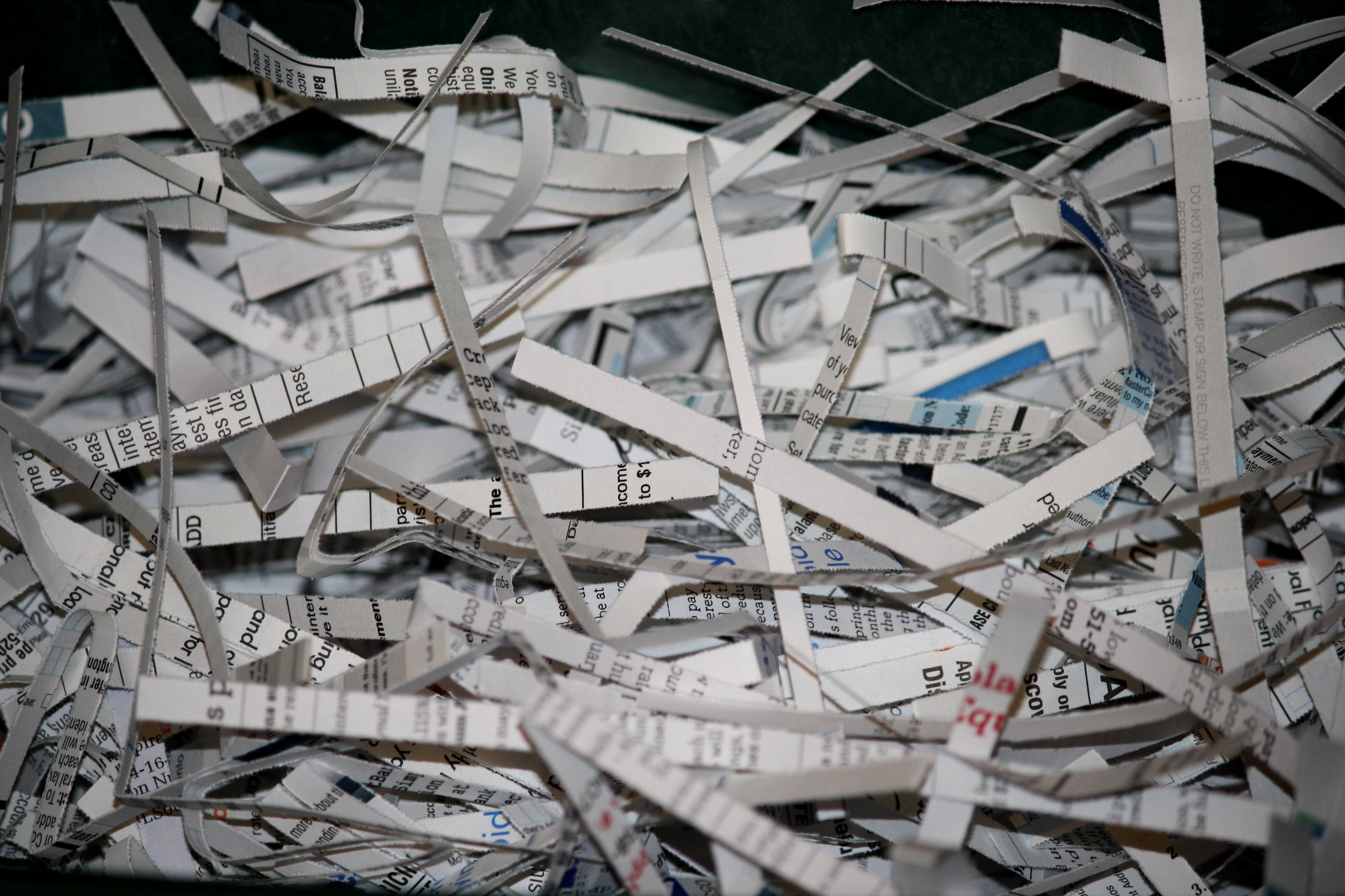 Shredded Paper Documents Picture Free Photograph