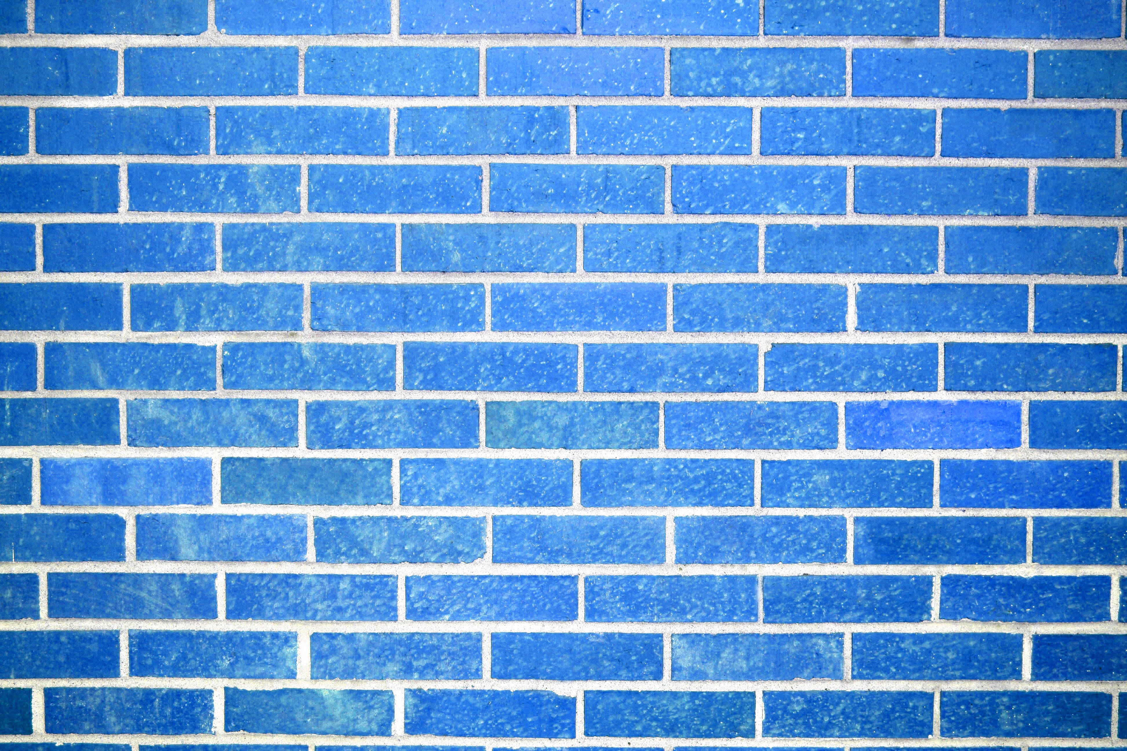 Sky Blue Brick Wall Texture