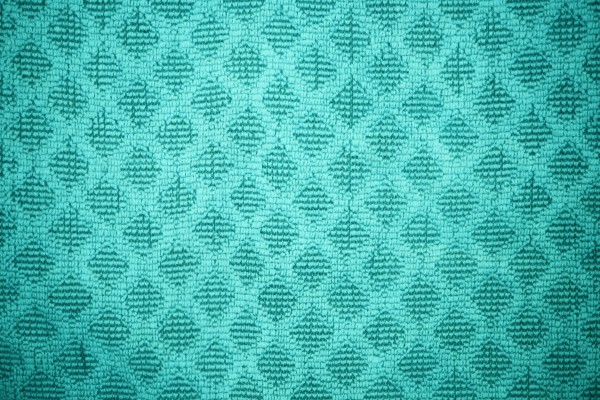 Teal Dish Towel with Diamond Pattern Texture - Free High Resolution Photo