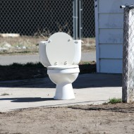 Toilet in Driveway - Free High Resolution Photo