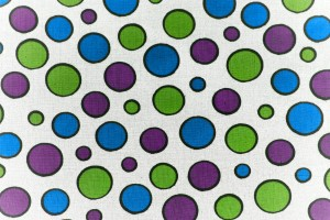 White Fabric with Purple, Green and Blue Dots Texture - Free High Resolution Photo