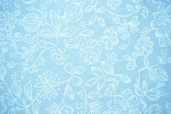 Baby Blue Fabric with Floral Pattern Texture - Free High Resolution Photo
