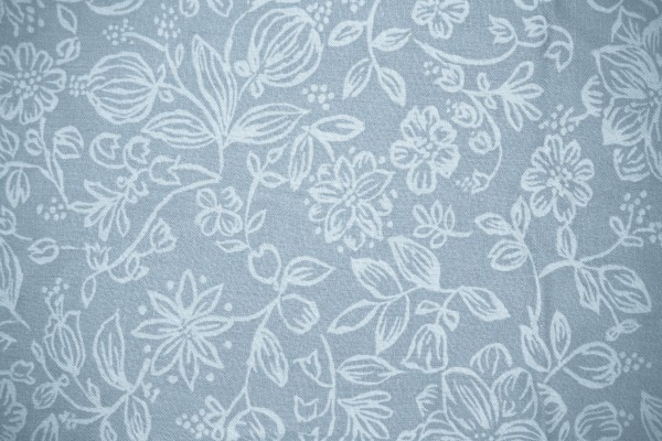 Blue Gray Fabric with Floral Pattern Texture - Free High Resolution Photo
