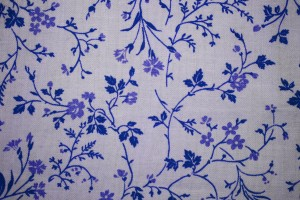 Blue on White Floral Print Fabric Texture - Free High Resolution Photo