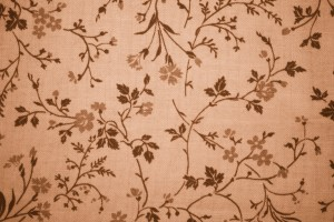 Brown Floral Print Fabric Texture - Free High Resolution Photo