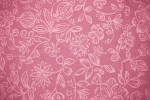 Coral Colored Fabric with Floral Pattern Texture - Free High Resolution Photo
