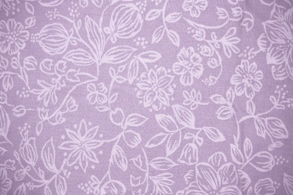 Dusty Purple Fabric with Floral Pattern Texture - Free High Resolution Photo