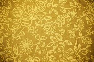 Gold Fabric with Floral Pattern Texture - Free High Resolution Photo
