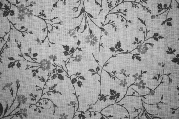 Gray on White Floral Print Fabric Texture - Free High Resolution Photo