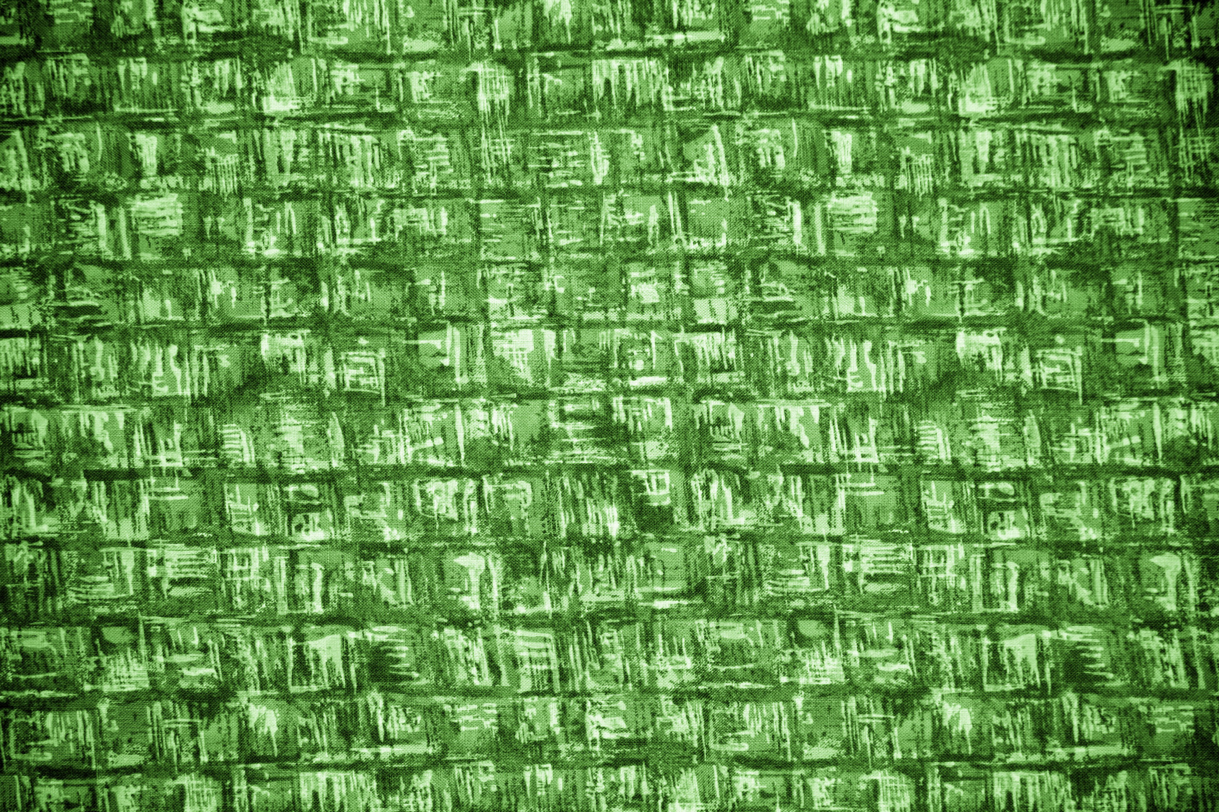 Green Abstract Squares Fabric Texture