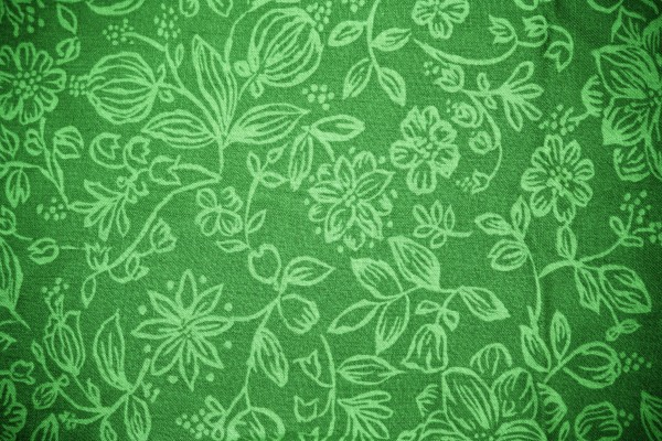 Green Fabric with Floral Pattern Texture - Free High Resolution Photo