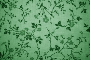 Green Floral Print Fabric Texture - Free High Resolution Photo