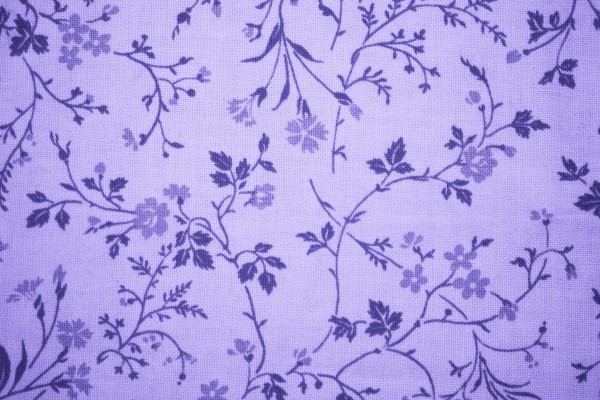 Lavender Floral Print Fabric Texture - Free High Resolution Photo