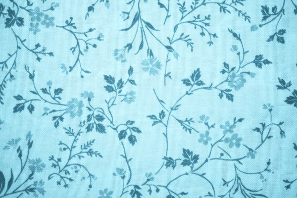 Light Blue Floral Print Fabric Texture - Free High Resolution Photo