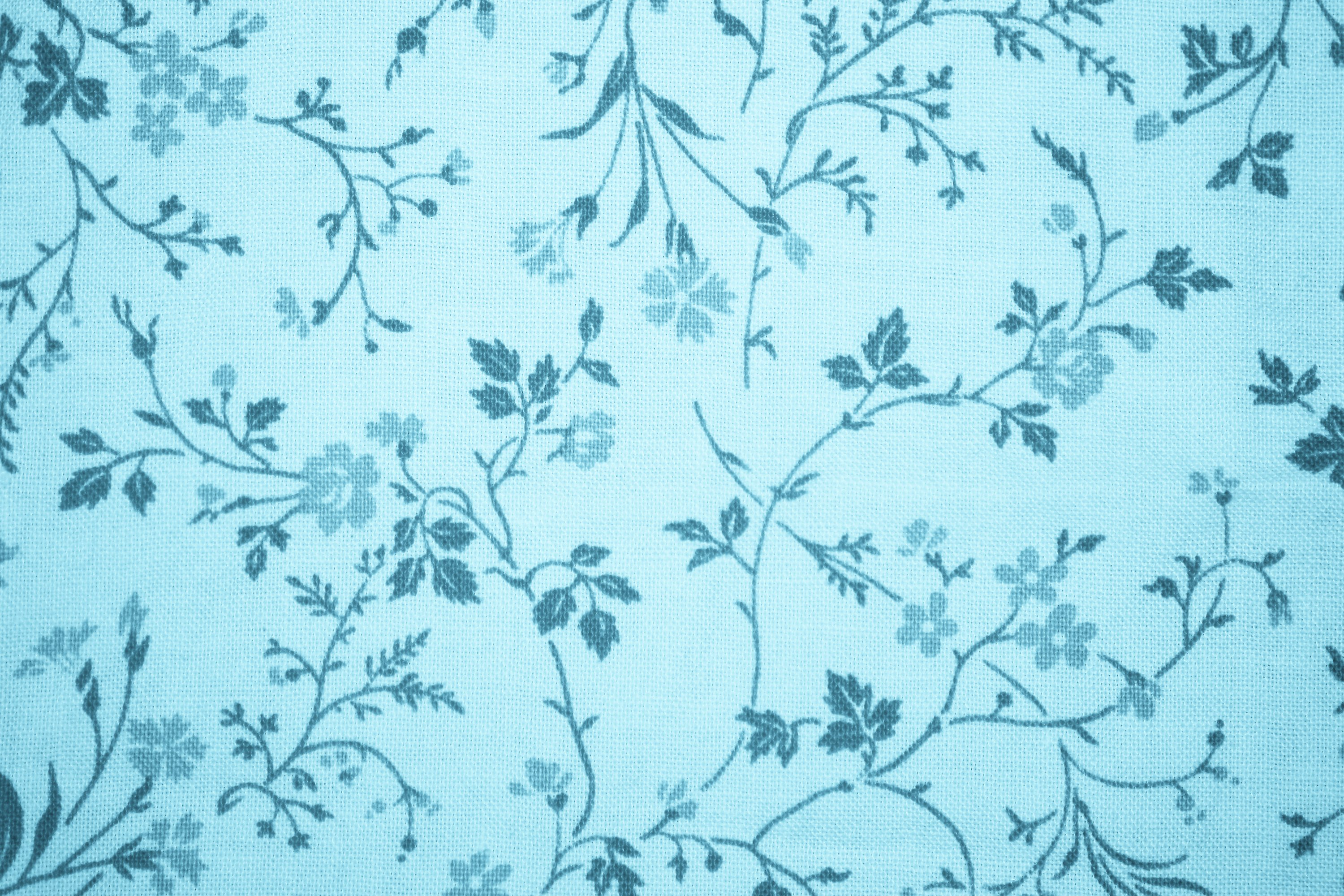 Light Blue Floral Print Fabric Texture