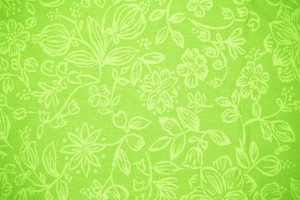 Lime Green Fabric with Floral Pattern Texture - Free High Resolution Photo