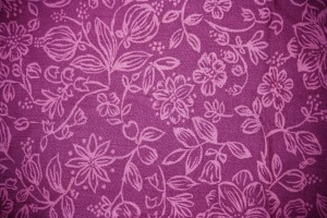 Magenta Fabric with Floral Pattern Texture - Free High Resolution Photo