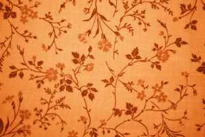 Orange Floral Print Fabric Texture - Free High Resolution Photo