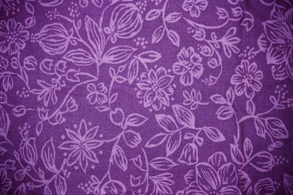 Purple Fabric with Floral Pattern Texture - Free High Resolution Photo