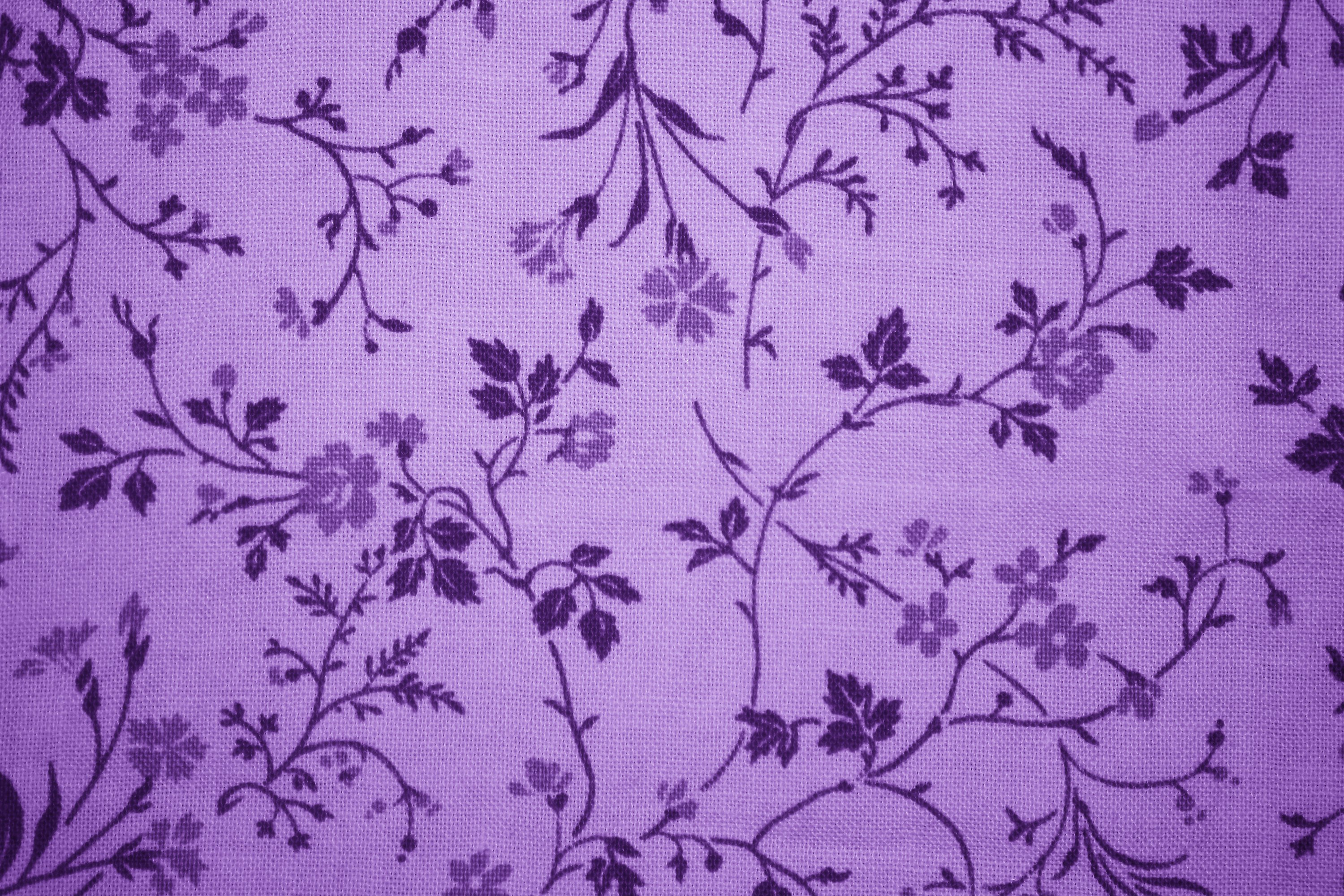 Purple Floral Print Fabric Texture - Free High Resolution Photo ...